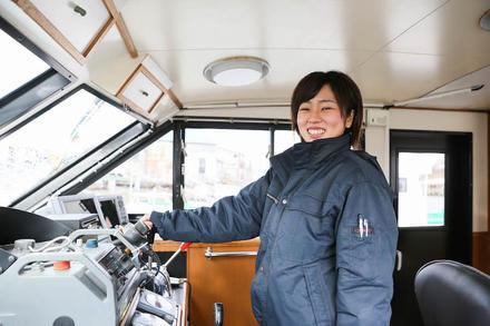 地元の海で小さな頃からの夢を叶えた女性船長。