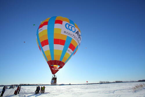【VR】空から眺める白銀世界 ー真冬の熱気球体験ー
