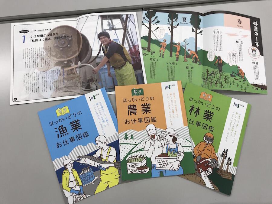 【就活ブック ほっかいどうの農業・林業・漁業のお仕事図鑑】発行しました